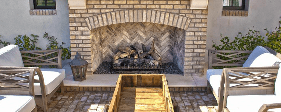 Reclaimed Masonry Fireplace