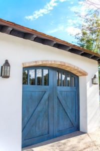 custom-blue-stained-wood-garage-door-phoenix-arcadia-used